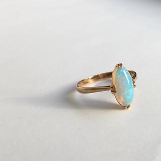 K18 18金 オパールのリング アンティーク(リング(指輪))