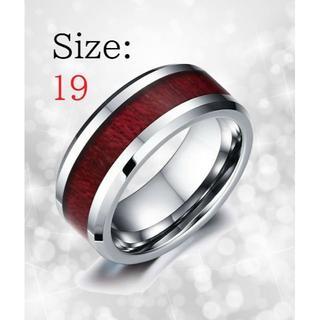 新品 リング メンズ 指輪 Wood入り タングステン 送料無料 チェーン付き(リング(指輪))