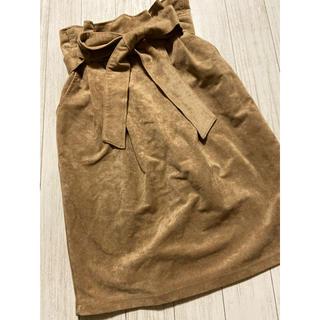 ページボーイ(PAGEBOY)のスエード調スカート(ひざ丈スカート)
