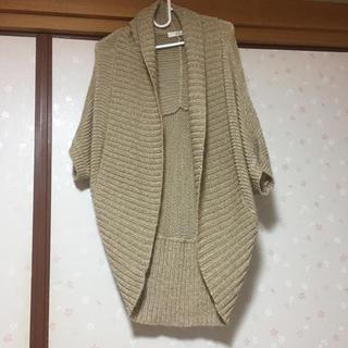 イッカ(ikka)の 未使用品☆ikka 大きいサイズ ドルマン ニット フリー 体型カバー(カーディガン)
