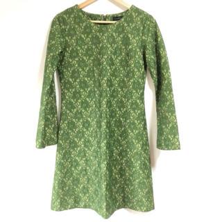 ザラ(ZARA)の綺麗なグリーン(*≧∀≦*)✨‼️❤️HAKKA❤️レースAラインワンピース(ひざ丈ワンピース)