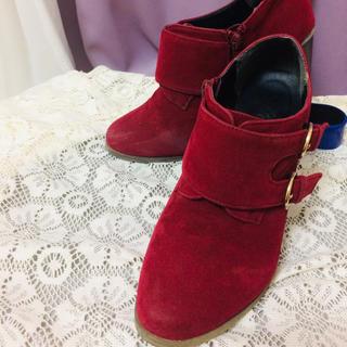 コルザ(COLZA)のワイン レッド ショートブーツ(ブーツ)