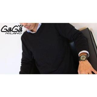 ガガミラノ(GaGa MILANO)のガガミラノ GaGaMilano 48 腕時計 男女兼用 クォツ 美品(ラバーベルト)