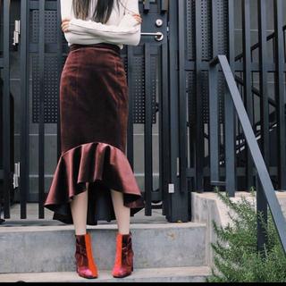 ルシェルブルー(LE CIEL BLEU)のlautashi マーメイドスカート 新品未使用(ひざ丈スカート)