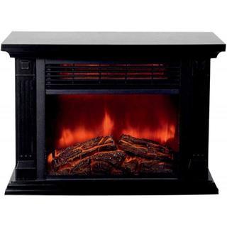 送料込み 電気式暖炉 電気ヒーター ストーブ 安全装置 保証付 ブラウン 特価(電気ヒーター)