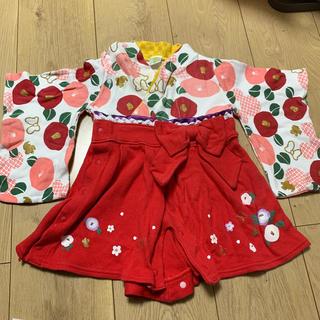 ディズニー(Disney)のベビー 着物 ロンパース 60 女の子 ディズニー(和服/着物)