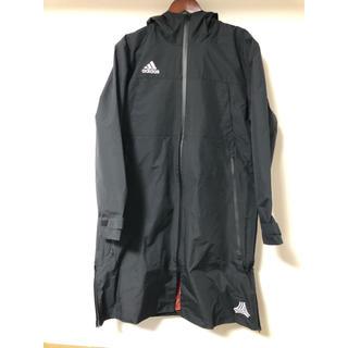 アディダス(adidas)のロングテックコート/TANGO(タンゴ) CAGE シリーズ 黒 ブラック(ステンカラーコート)