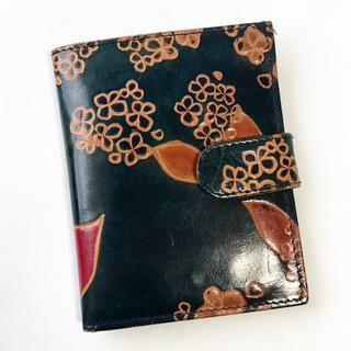第3世界ショップ   山羊革   二つ折り 財布  インド製(財布)