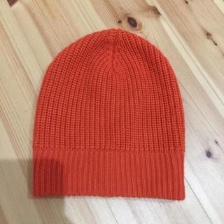 ルシェルブルー(LE CIEL BLEU)のルシェルブルー オレンジ ニット帽(ニット帽/ビーニー)