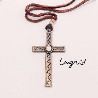 アングリッド(Ungrid)のUngrid*十字架ネックレス(本革)(ネックレス)