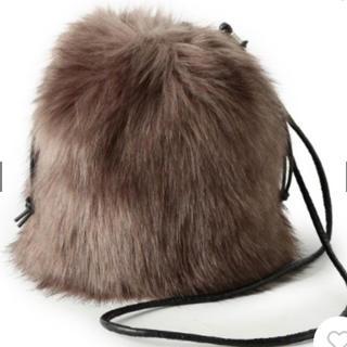 オゾック(OZOC)のオゾック  エコファー 巾着バッグ 新品(ショルダーバッグ)