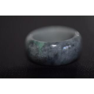 H40-2 板指 17.5号 天然 翡翠リング メンズ 硬玉 ジェダイト(リング(指輪))