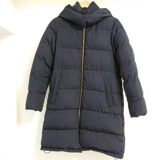 ジーユー(GU)のGU ジーユー 長袖中綿コート ネイビー XLサイズ(ロングコート)