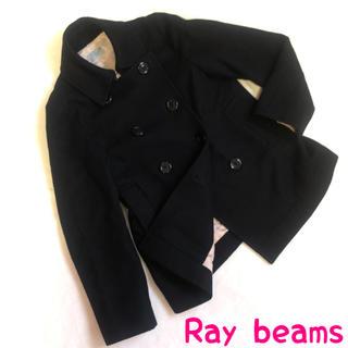 レイビームス(Ray BEAMS)の美品 レディース Mサイズ コート  黒 ブラック レイビームス  ステンカラー(ステンカラーコート)