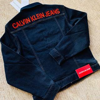 カルバンクライン(Calvin Klein)の★Calvin Klein Jeans 背面ロゴ刺繍ストレッチデニムジャケット(Gジャン/デニムジャケット)