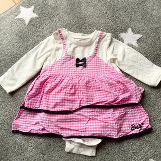 バービー(Barbie)のBarbie baby 長袖トップス 股付き(シャツ/カットソー)