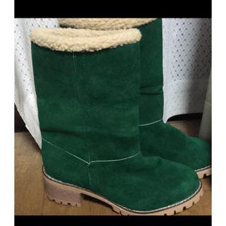 24.5cm レディース グリーン 緑 ブーツ(ブーツ)