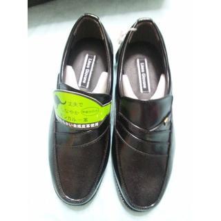 黒 カンガルー皮 合成皮革 ビジネスシューズ 23.5cm 紳士 ワイズ:5E(ドレス/ビジネス)