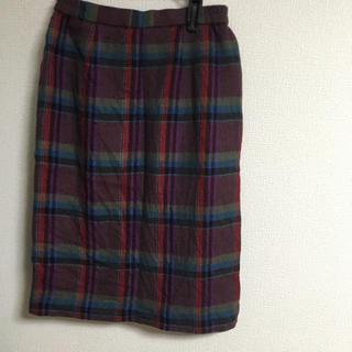 パナマボーイ(PANAMA BOY)のチェックスカート(ひざ丈スカート)