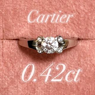 カルティエ(Cartier)のカルティエ バレリーナ 0.42ct pt950 Eカラー IFグレード リング(リング(指輪))