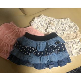 スーリー(Souris)のスカート 、キュロット3枚セット♡スーリー♡トロワラパン♡ビケット♡90.100(スカート)