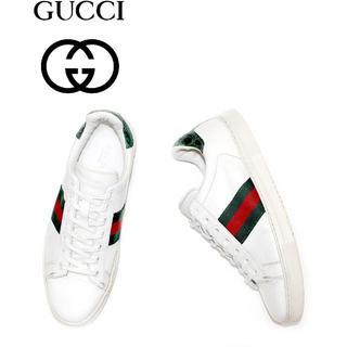 Gucci - 正規品GUCCI/125672/本革レザースニーカー37/ITALY