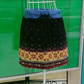 チチカカ(titicaca)の[美品] TITICACA チチカカ 元気一杯♪フリース エスニック スカート(ミニスカート)