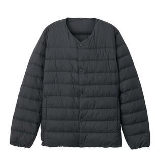ムジルシリョウヒン(MUJI (無印良品))の無印良品 紳士ノーカラージャケット Mサイズ黒(ダウンジャケット)
