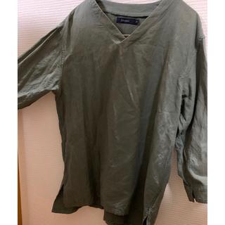 レイジブルー(RAGEBLUE)のRAGEBLUE  レイジブルー メンズ M 緑 カーキ T シャツ 七分袖(Tシャツ/カットソー(七分/長袖))
