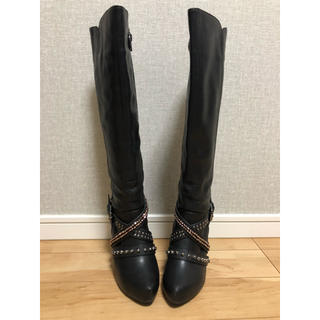 ジェリービーンズ(JELLY BEANS)の黒色 ロングブーツ Sサイズ(ブーツ)