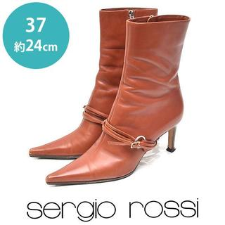 セルジオロッシ(Sergio Rossi)のセルジオロッシ ベルト ショートブーツ 37(約24cm)(ブーツ)