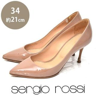 Sergio Rossi - セルジオロッシ ポインテッドトゥ パンプス 34(約21cm)