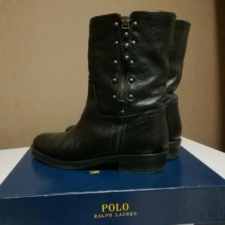 ポロラルフローレン(POLO RALPH LAUREN)のPOLO  RALPH LAUREN    黒 ショートブーツ 【23.5㌢】(ブーツ)