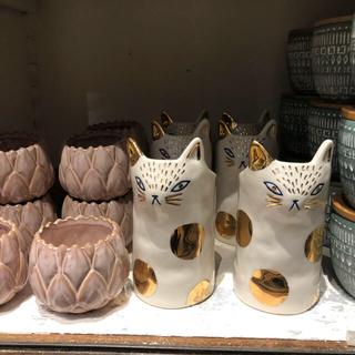 アンソロポロジー(Anthropologie)の新品★猫の花瓶フラワーポットベースねこネコ好きに(花瓶)