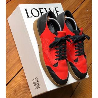 ロエベ(LOEWE)の本物 格安 Loewe ロエベ スニーカー 箱有り タグ付き サイズ10 レッド(スニーカー)
