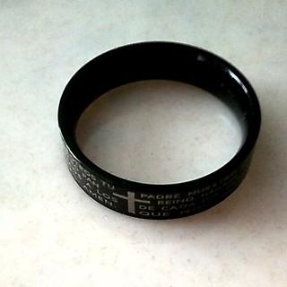 ブラック十字架リング チタン製(リング(指輪))