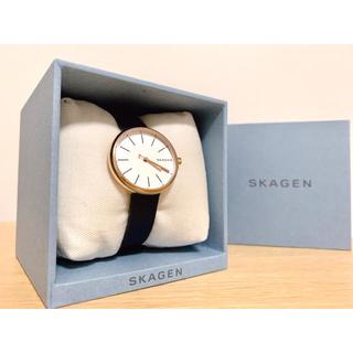 スカーゲン(SKAGEN)のSKAGEN スカーゲン レディース 腕時計 ネイビー×ピンクゴールド(腕時計)