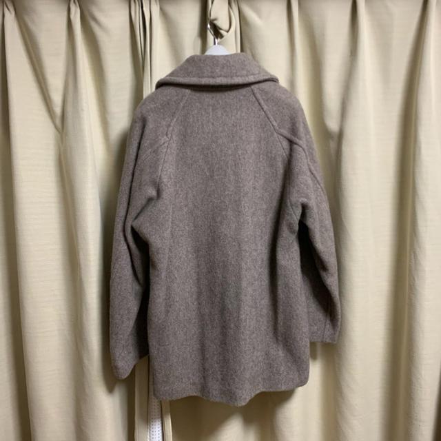 COMOLI(コモリ)のcomoli ヤクウールショールカラーコート 2 極美品 メンズのジャケット/アウター(その他)の商品写真