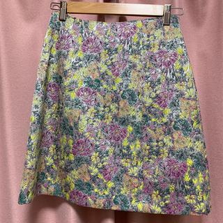 マーキュリーデュオ(MERCURYDUO)のマーキュリーデュオ 花柄 ジャガード 台形スカート(ミニスカート)
