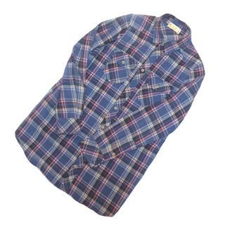 ダブルクローゼット(w closet)のダブルクローゼット タータンチェックのシャツワンピース(ひざ丈ワンピース)