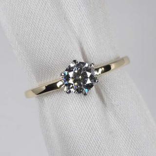 ダイヤモンドリング 0.313ct D FL 3EX フローレス pt k18(リング(指輪))