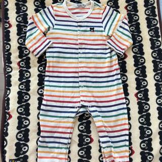 ダブルビー(DOUBLE.B)のミキハウス ダブルB ロンパース 80 カバーオール 男の子 女の子 パジャマ(ロンパース)