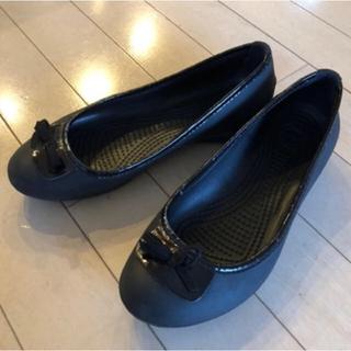 crocs - ◆クロックバレーシューズ黒W6 23cm USED◆