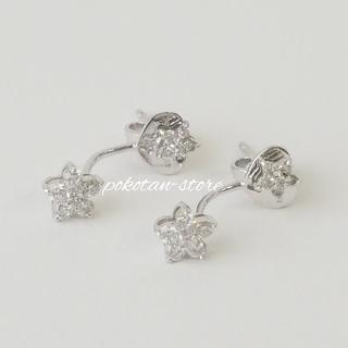PonteVecchio - 美品【ポンテヴェキオ】K18WG ダイヤモンド 0.34ct  フラワ ピアス