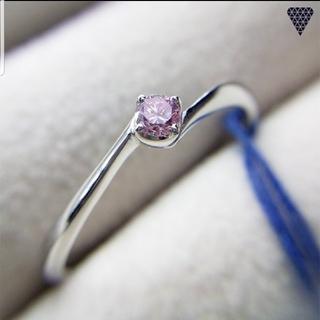 合計0.071ct 天然ピンクダイヤモンド プラチナリング 11号(リング(指輪))