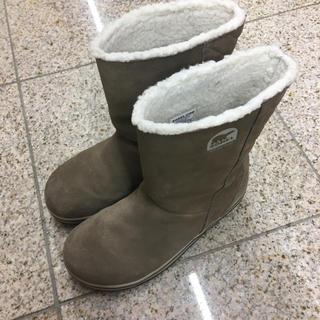 ソレル(SOREL)のソレル  スノーブーツ  グレイシー 25センチ ベージュ  寒波 降雪(ブーツ)