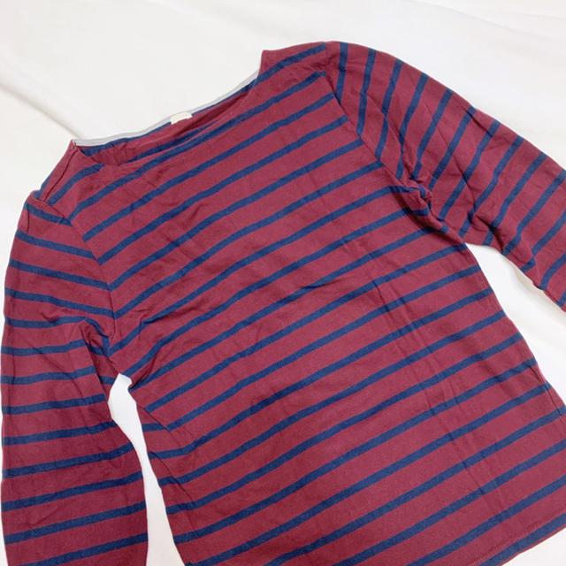 GU(ジーユー)のGU ボーダートップス レディースのトップス(Tシャツ(長袖/七分))の商品写真