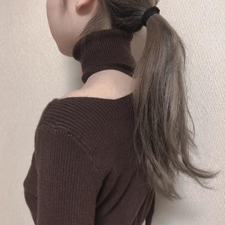 snidel - 本日特別値下げ!brown turtleneck Knit♡