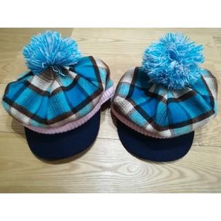 ベベ(BeBe)のキッズ ニット帽 2つセット(帽子)