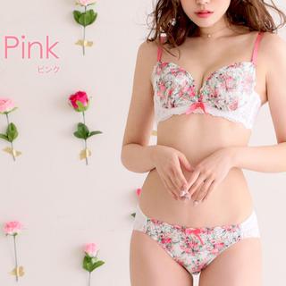 エメフィール(aimer feel)のaimerfeel ブラ&ショーツ C70 カームフラワー ピンク(ブラ&ショーツセット)